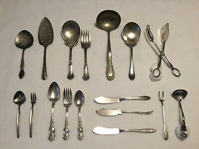 Mixed Lot of Vintage/Antique Silverplate Pieces-Wm Rogers, RLB, etc