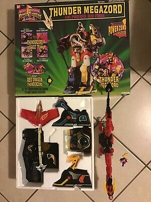 1994 Mmpr Power Rangers Thunderzord Megazord Giftset 95% Complete In Box