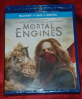 MORTAL ENGINES - Official US Blu-ray/DVD combo - still sealed - Peter Jackson