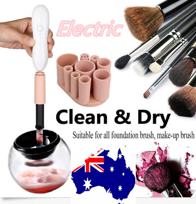 Make up Brush Cleaner and Dryer Spinner Electric Automatic cleaning set Tool AU