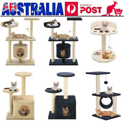 Cat Tree Scratching Post Scratcher Pole Gym Toy House Furniture Multilevel N0H8