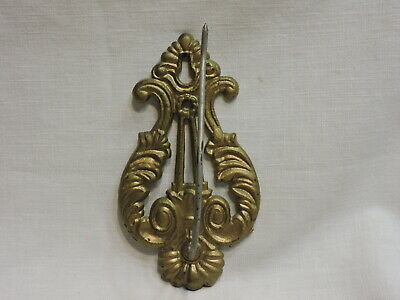 Vintage Decorative Brass Wall Mounted Reciept Hook Made in USA