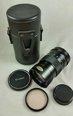 Vivitar 135mm f2.8 Auto Telephoto Lens 55mm Konica Mount K/AR with Case & Filter
