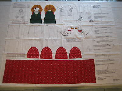 CRANSTON Gretel and Goose A Story Book Doll Fabric Panel Cut & Sew Pattern