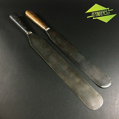 Antique Rosewood Handled Spatulas Maleham & Yeomans Flexible Old Tools