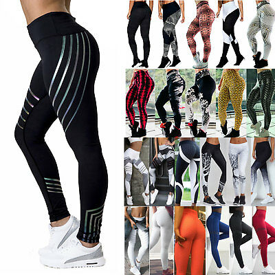 Women Fitted Yoga Legging High Waist Exercise Gym Stretch Pants Active Wear 8-16