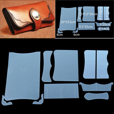PVC Manual Lady Wallet Leather Stencil Sewing Leather Craft Template Pattern