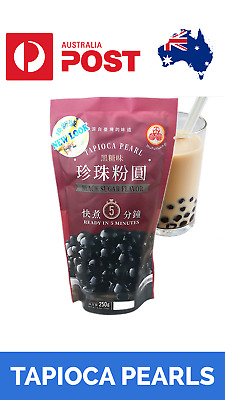 ORIGINAL TAPIOCA PEARLS BLACK FAST Bubble, Boba, Milk Tea WuFuYuan 250g AU Stock