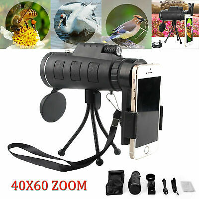 60 X Zoom Optical Telephoto Camera Clip On Telescope Lens For Mobile Smart Phone
