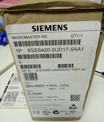 1PC Siemens 6SE6420-2UD17-5AA1 MM420 0.75KW 6SE64202UD175AA1 Frequency converter