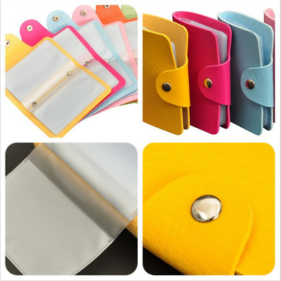 1pc Random Color Credit Card Holder 24 Bits Business ID Card Organizer New