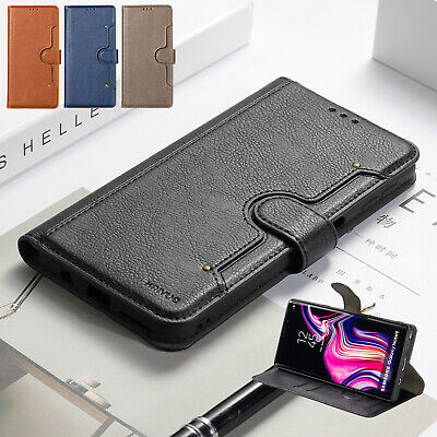 For Samsung Galaxy S10 5G A50 A30 70 Case Magnetic Flip Leather Card Stand Cover