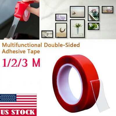 Double Sided Grip Tape Traceless Washable Adhesive Tape Nano Invisible Gel Pad