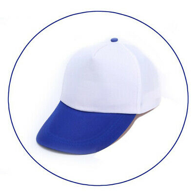 Blue 1 Unisex Adjustable Baseball Cap Mens Solid Color Hip Hop Hats Snapback Hat