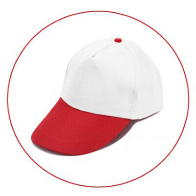 Red 1 Unisex Adjustable Baseball Cap Mens Solid Color Hip Hop Hats Snapback Hat
