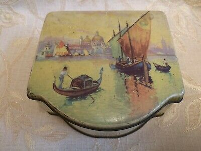 Large Vintage 6MB Container Made In England Tin