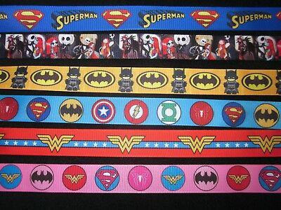 Dog Collar Lead Superhero Batman Superman Flash Inspired Blue Handmade