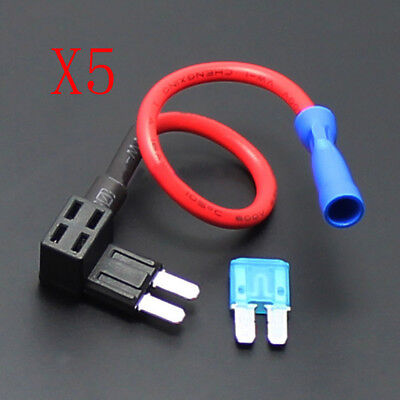 5 X NEW 12V Car Motor Add-a-circuit MICRO2 ATR Fuse Holder 15A Sales