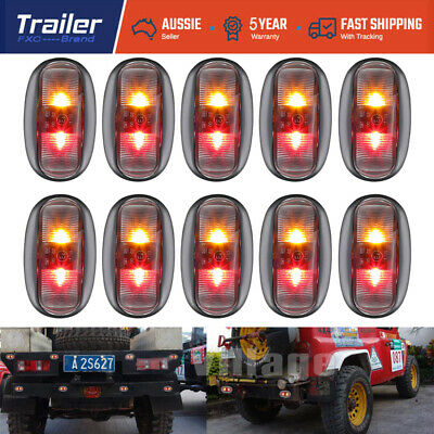 10X Red Amber 2 Led Side Marker Light Lamp Clearance Trailer Truck Ute AU SHIP
