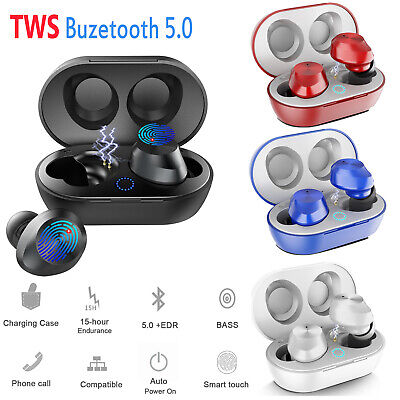 New Bluetooth 5.0 Headset TWS Wireless Earphones 5D Stereo Twins Earbuds