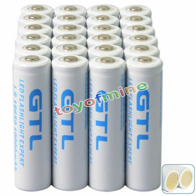 24Pcs 10000mAh 18650 3.7V GTL li-ion Rechargeable Battery + PCB for LED Torch