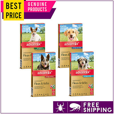 ADVANTIX for Dogs All Sizes 6 Doses Flea and Tick Prevention