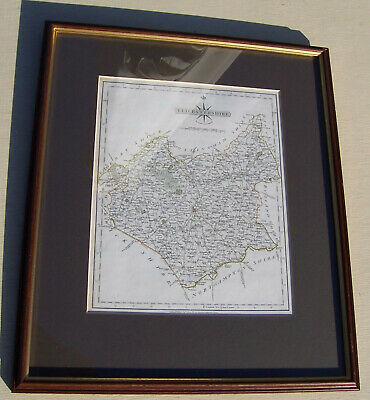 Antique County Map - Leicestershire - John Cary 1793 - Framed and Glazed