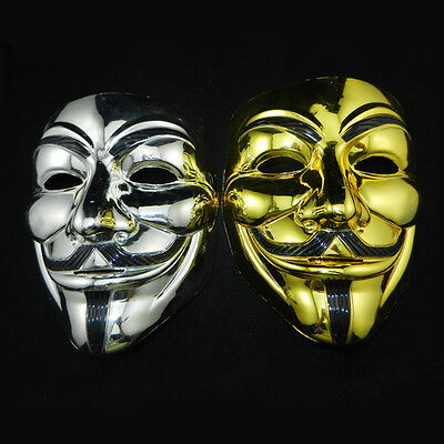 Funny V for Vendetta Halloween Cosplay Party Guy Fawkes Anonymous Face Mask New