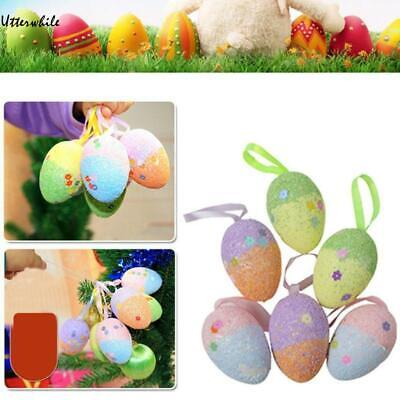 6Pcs Foam Easter Eggs Colorful Eggs for DIY Crafts Decorations U8HE 01