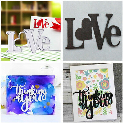 LOVE & Thinking You Metal Cutting Dies DIY Art Creative Card Embossing Craft