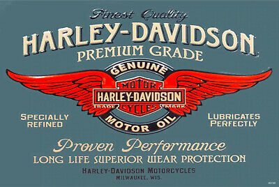 HD Harley motor oil brand new tin metal sign MAN CAVE