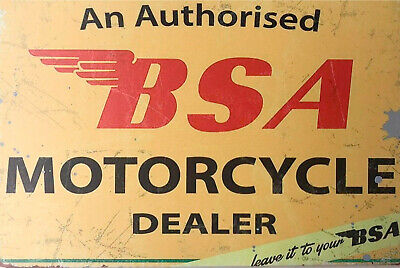 Authorised BSA Motorcycle Dealer brand new tin metal sign MAN CAVE