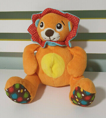 PLAYGRO ORANGE LION PLAYS Rock-a-bye Baby In the Tree Tops BABY TOY 20CM