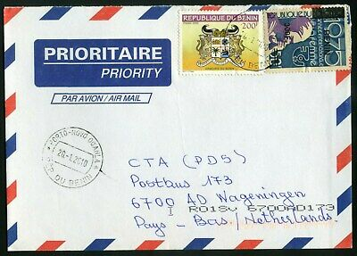 BENIN provisionals on cover, Mi 1509, 3875 issued