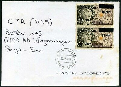 BENIN provisionals on cover, Mi1602, 4525 issued