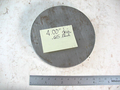 """4"""" Dia. Steel Plate Round Circle Disc CRS .615"""" Thick"""