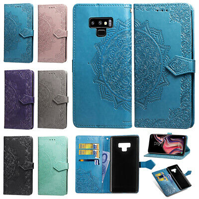 For Samsung Galaxy S10 5G S9 Plus S8 Note 9 Case Leather Wallet Flip Stand Cover