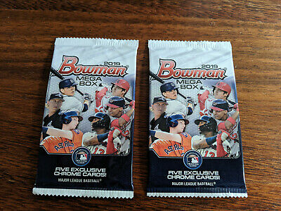 (2) 2019 Bowman Baseball MEGA BOX PACKS! MOJO Refractors! Factory Sealed Hot!