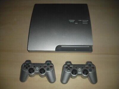 Sony PS3 Konsole 320GB Slim in Silber + 2 Controller - Playstation 3 **