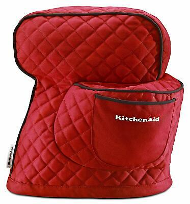 Kitchenaid  Mixer Cover Red Food Processor Protector Quilted Case Outer Pocket