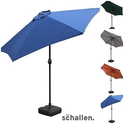 Schallen 2.7m UV50 Garden Outdoor Sun Umbrella Parasol with Winding Crank & Tilt