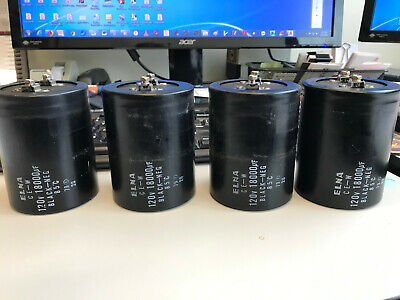 Elna 18000uF Capacitors from Kenwood L-09M Amplifiers