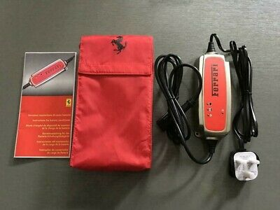 Ferrari Battery Conditioner Charger & Pouch California 458 599 612 FF - NEW -