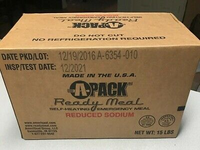 Military MRE 2021 Inspection A Case SEALED Stored in AC 12 READY Emergency Meals