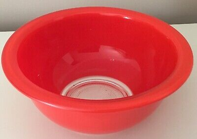 Vintage Pyrex Corning Primary Colors Mixing Bowl Clear Bottom Red Replacement