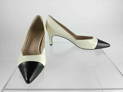 Franco Sarto Donnie Kitten Heel Pumps, Black Leather, 9 W US