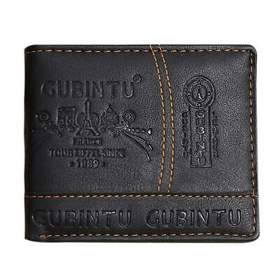 Men PU Leather Casual Bifold Wallet Credit/ID Card Receipt Coin Money Purse Gift