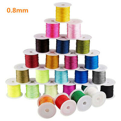 100m/roll Nylon Thread 0.8mm Beading Macrame String Knotting Cords Multi-Colors