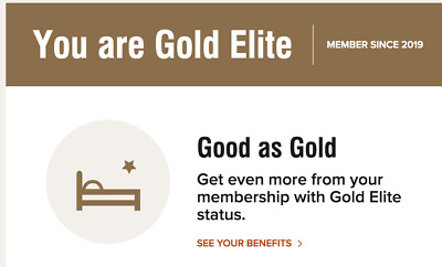 Marriott Bonvoy Gold Elite Status Upgrade Valid for 2+ Years