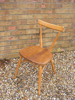 Vintage Retro Mid Century Adult Size Ercol Blue Label Stacking Chair Model 392